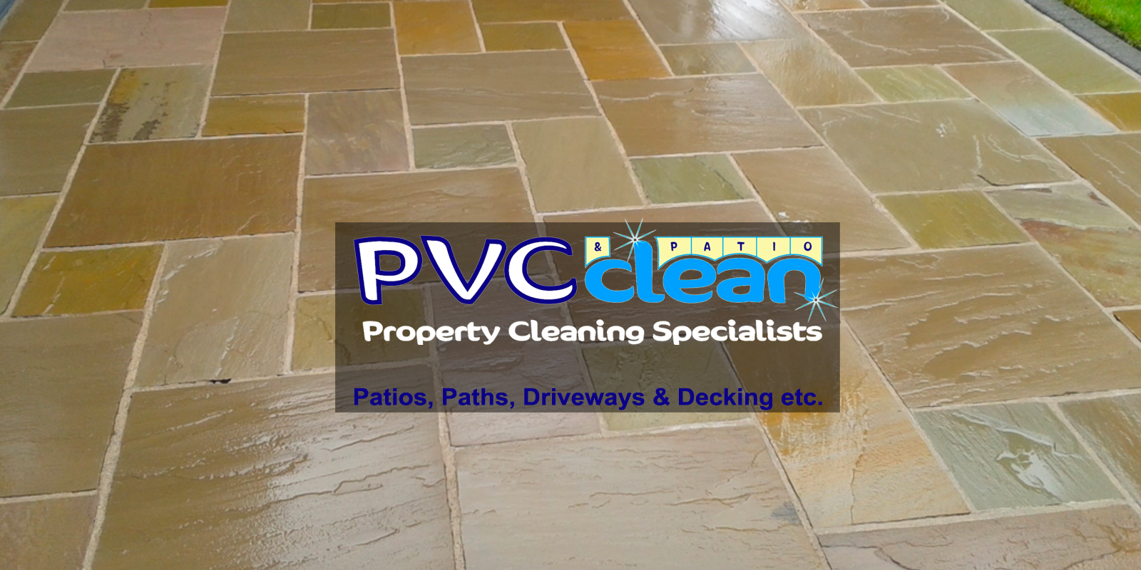PVC Clean patios, paths, driveways, decking